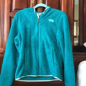 Very Soft Teal North Face Sweatshirt